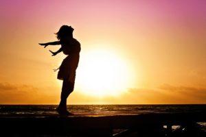 šťastná seberealizovaná duše